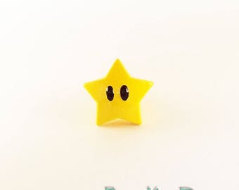 Super Mario Star Gamer Gift Furniture Pull Knob | Video Game Geek Decor | Super Mario Bros Kitchen Cabinet Knob | Cute Geek Gamer Decor