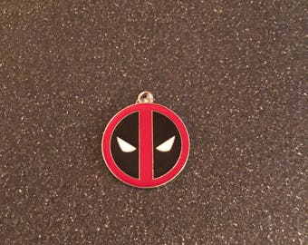 Deadpool logo charm