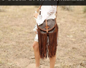 The Petit Satchel    Louis Vuitton, fringe, upcycle, gift for her, boho, western, cowgirl, gypsy, crossbody bag, purse, Christmas