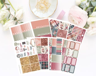 Autumn Sparkle - Deluxe Weekly Planner Kit - 220+ Planner Stickers - 8 Pages - For Use with Erin Condren