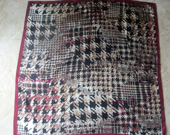Pure Silk Houndstooth Check Scarf by Accessory St. New York