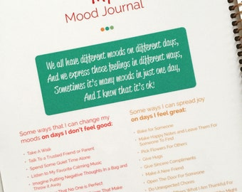 Kid Mood Journal, Personalized in Any Cover Option