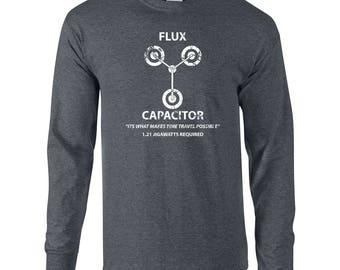 Flux Capacitor time travel 88 miles per hour funny future 80s movie costume mcfly vintage retro - Apparel Clothing - Long Sleeve shirt - 098