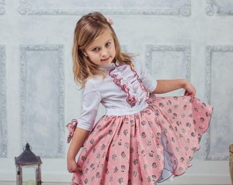 Vintage style girl dress