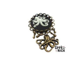 Steampuk Octopus octopus kraken Octopus brooch