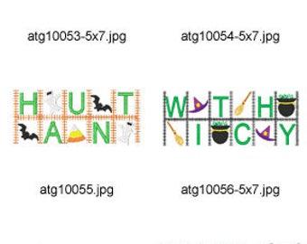 Halloween-Word-Blocks ( 9 Machine Embroidery Designs from ATW ) XYZ17H