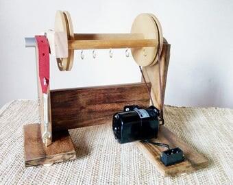 Electric spinning wheel for yarn, art yarn, wooden spinning wheel