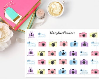 Say Cheese Camera Planner Stickers