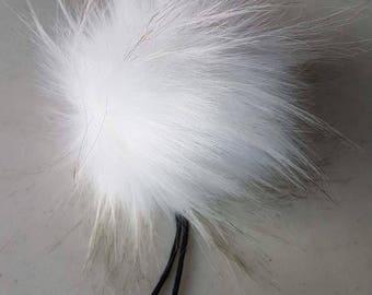 The TUNDRA pom pom // Faux fur pom poms, handmade hat accessory, cruelty free fur, large pom poms, 5 inch