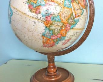 "12"" Replogle World Classic Series Gobe/Vintage World Globe/Antique Maps/Antique World Globe/Old World Globe/Vintage World Map/Replogle Globe"