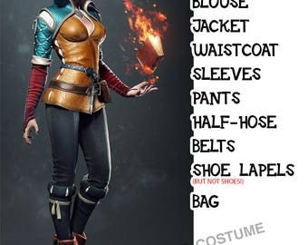 Triss Merigold from Witcher 3 cosplay costume