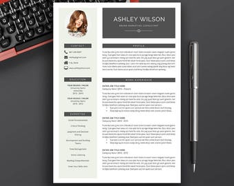 Professional Resume Template, CV Template, Cover Letter, MS Word, Modern Creative Teacher Resume, A4, Letter Size, Instant Download, Ashley