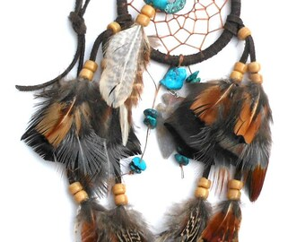 Small Dream Catcher / Blue Dream Catcher / Turquoise Blue / Cool Gifts for Teens / Gift for Husband / Good Dreams / Dream Guardian