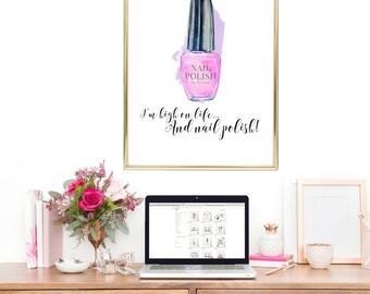 nail salon decor, bedroom decor, bathroom prints, beauty salon quote, nail wall art, nail polish, beauty salon decor, beauty quotes, print