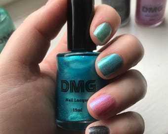 15ml Blue Holographic Nail Scented Polish / Lacquer - Indie Nail Polish - DMG Nails
