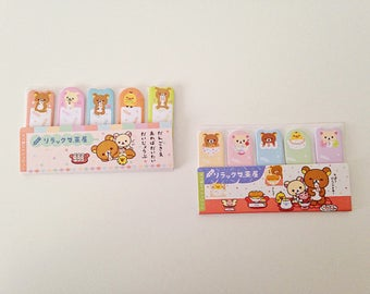 San-X Rilakkuma bears cute kawaii kitsch mini sticky notes post-it stick markers
