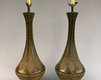 Pair of Mid Century Lamps in the style of Quartite