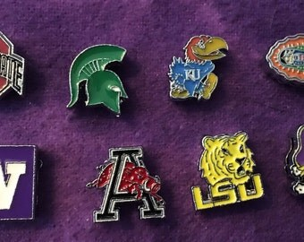 College Team 8mm Slide Charms - Price is Per Charm