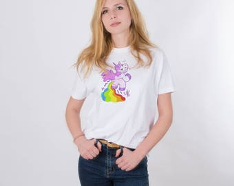 LGBT Shirt Unicorn Shirt Tumblr Shirt Women Tee Shirts Women Gift for Her Animal Shirt Festival Clothing Printed Shirt Funny T Shirt PA1111