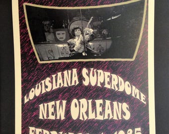 Prince & The Revolution Vintage Concert Poster Reproduction // New Orleans // Superdome // 1980s