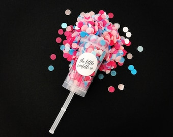 Pink and Blue 'Gender Reveal' Tissue Paper Confetti Popper