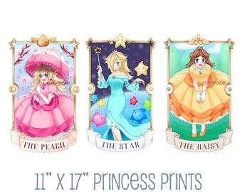 "Nintendo Girls 11"" x 17"" Princess Peach, Rosalina, Daisy Art Print"