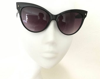 Cat Eye Sunglasses, Black Cat Eye Sunglasses, Retro Cat Eye Sunglasses, Mad Men Sunglasses, Glam Cat Eye Sunglasses, Black Cat Eye,
