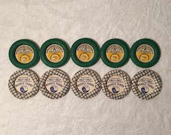 Vintage Milk Bottle Caps from Marble Farms Dairy in Syracuse - New York