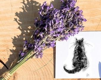Cat card // cat lovers card // black cat card // cat lover gift // animal lover gift // cat birthday card // cat greetings card