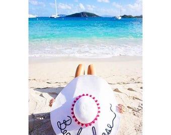 Straw hat, Do not Disturb hat, Bride to be hat, Beach Please hat,
