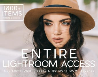 1800+ Items Entire Lightroom Access Lightroom Presets & Lightroom Brushes Professional Photo Editing for Portraits, Newborns, Weddings