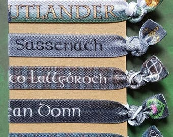 Outlander inspired FOE hair tie collection