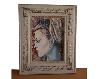 "Portrait Brigitte Bardot, Icône vintage, BB ""Baby Girl"""