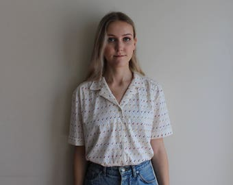 Vintage 90s Collared Top