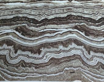 Stonehenge Earth Rhythms-Slate Cotton Fabric (39179)-Designed by Linda Ludovico for Northcott