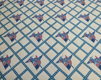 Americana-Light Blue Cotton Fabric designed by Carrie Quinn for Penny Rose Fabrics