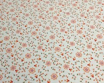 Perfectly Seasoned-Orange Flowers Cotton Fabric Designed by Sandy Gervais for Moda Fabrics