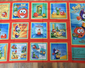 Veggie Tales Fabric Book-Helping Hands Cotton Fabric