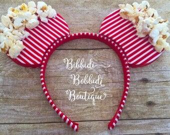 Popcorn Mickey Minnie Mouse Ears Headband