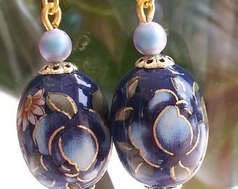Japanese TENSHA beads - Earrings-