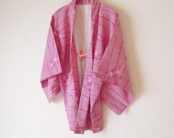 Vintage Japanese Haori / Kimono Jacket / Kanoko shibori