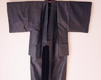 Vintage Japanese Men's Kimono Set of 2