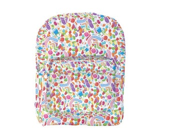 Candy Backpack Colorful Candies Candy Print Sweets  *MTO, Month*