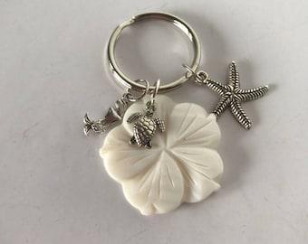 Sea Shells By The Sea Shore Keychain