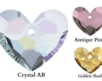 Swarovski Crystal 6264 Truly in Love Heart Pendant 18mm All Colours