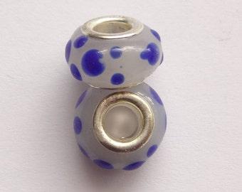 Pandora Style 13x8mm Lampwork Glass Large Hole Beads 10PC 30PC