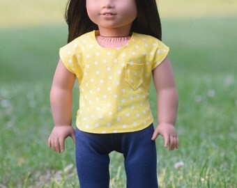 Top and Leggings for American Girl Doll