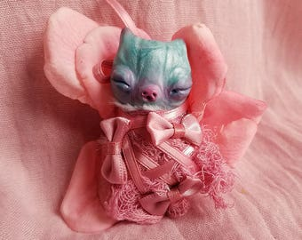 cocoon flower baby- ooak art doll, fairy doll, fantasy creature