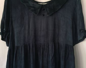 Adorable vintage Navy blue baby doll dress