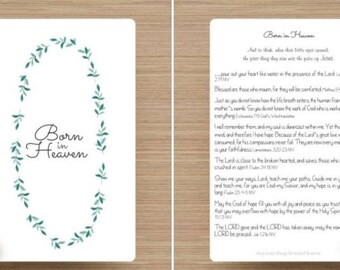 Born In Heaven Print and Scripture Card